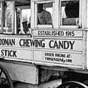 A Dollar A Stick Roman Chewing Candy In Bw Poster