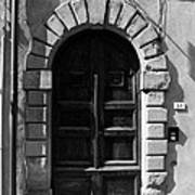 A Door In Tuscany Bw Poster