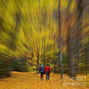 A Fall Stroll Taughannock Poster