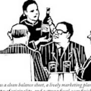 A Female Sommelier Presents A Bottle Of Wine Poster