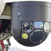 A Flir Camera Mounted On An Eh101 Poster