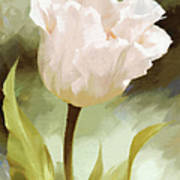 One Beautiful Flower Impressionism Poster