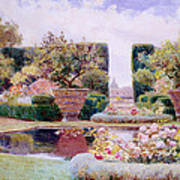 A Formal Garden In Rome Poster