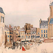 A French Market Place Poster