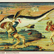 A Futuristic Shark Hunt On The Seabed Poster