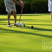 A Game Of Croquet Poster