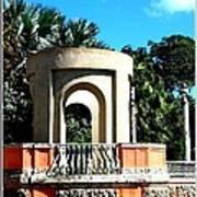 A Garden Balcony At Vizcaya Poster