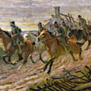 A German Cavalry Patrol Ride Poster