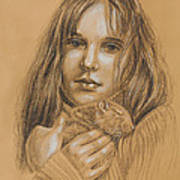 A Girl With The Pet Poster