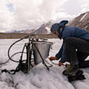A Glaciologist Tinkers With A Steam Poster