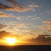 A Golden Sunrise - Singer Island Poster
