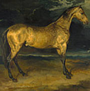 A Horse Frightened By Lightning Poster
