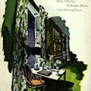 A House And Garden Cover Of A Living Room Poster