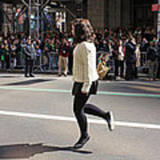 A Irish Dancer Doing Some Dancing At The 2009 St. Patrick Day Parade Poster