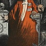 A Judge In Full Garments, Illustration Poster