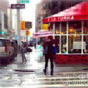 A La Turka In The Rain - Restaurants Of New York Poster