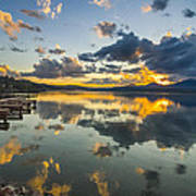 A Lake Pend Oreille Sunset  -  120601a-040 Poster