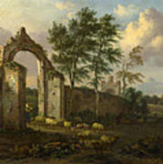 A Landscape With A Ruined Archway Poster