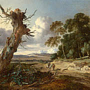 A Landscape With Two Dead Trees Poster