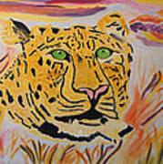 A Leopard's Gaze Poster