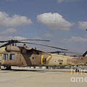 A Line Of Uh-60l Yanshuf Helicopters Poster