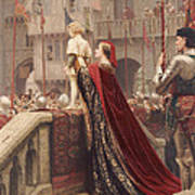 A Little Prince Likely In Time To Bless A Royal Throne Poster by Edmund Blair Leighton