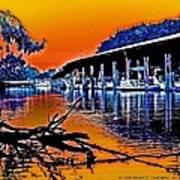 A Magical Delta Sunset Poster