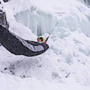 A Man Hangs In A Hammock Sleeping Bag Poster