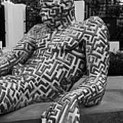 A Maze Ing Man 5 Black And White Poster