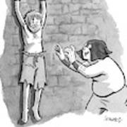 A Medieval Torturer Approaches A Hanging Poster