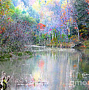 A Monet Autumn Poster