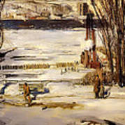 A Morning Snow On The Hudson River Poster