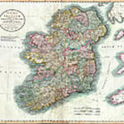 A New Map Of Ireland 1799 Poster