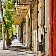 A New Orleans Alley Poster