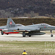 A Northrop F-5e Tiger Of The Swiss Air Poster