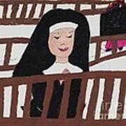A Nun In Prayer Poster
