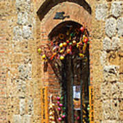 A Painting A Tuscan Shop Doorway Poster