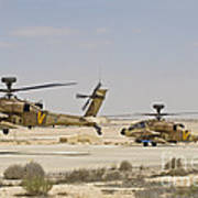 A Pair Of Ah-64d Saraf Attack Poster