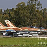A Pair Of F-16c Barak Of The Israeli Poster