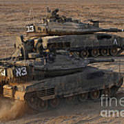 A Pair Of Israel Defense Force Merkava Poster
