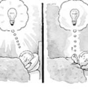 A Panel Depicts A Sleeping Man Dreaming Poster
