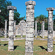 A Panoramic View Of Columns Surround Poster