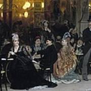 A Parisian Cafe Poster
