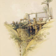 A Persian Water Wheel, Used In Raising Poster