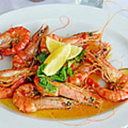 A Plate Of Shrimp Poster