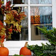 A Pretty Autumn Window Poster