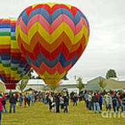 Albany Oregon Art And Air Show Hot Air Balloon Lift Off Poster