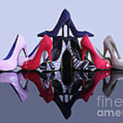 A Pyramid Of Shoes Poster