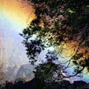 A Rainbow Below Yosemite Falls Poster
