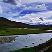 A River Splits The Landscape Poster